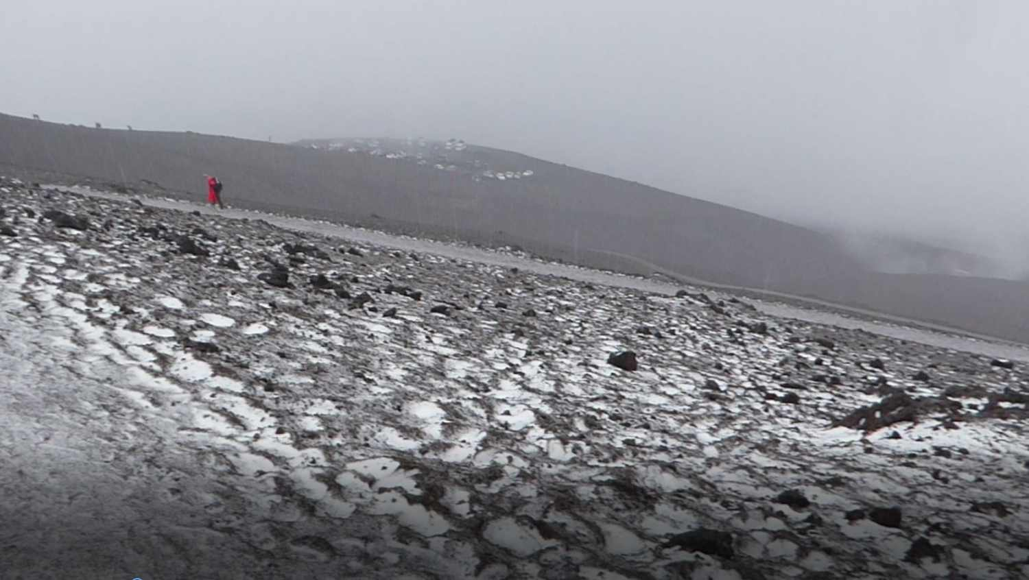 Ascent to the top of the Cotopaxi
