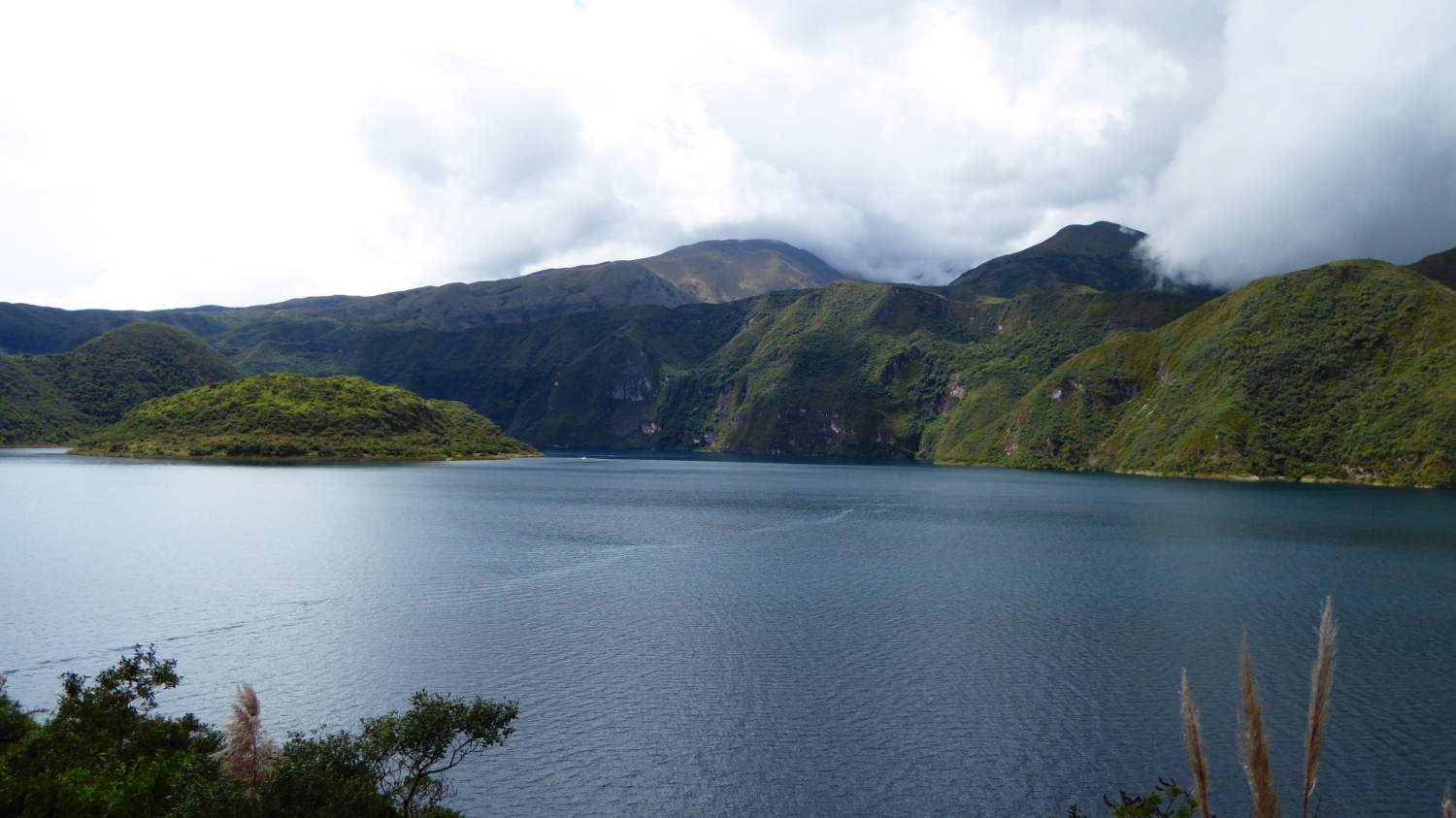 A lake is the remnant of the eruption of a supervolcano