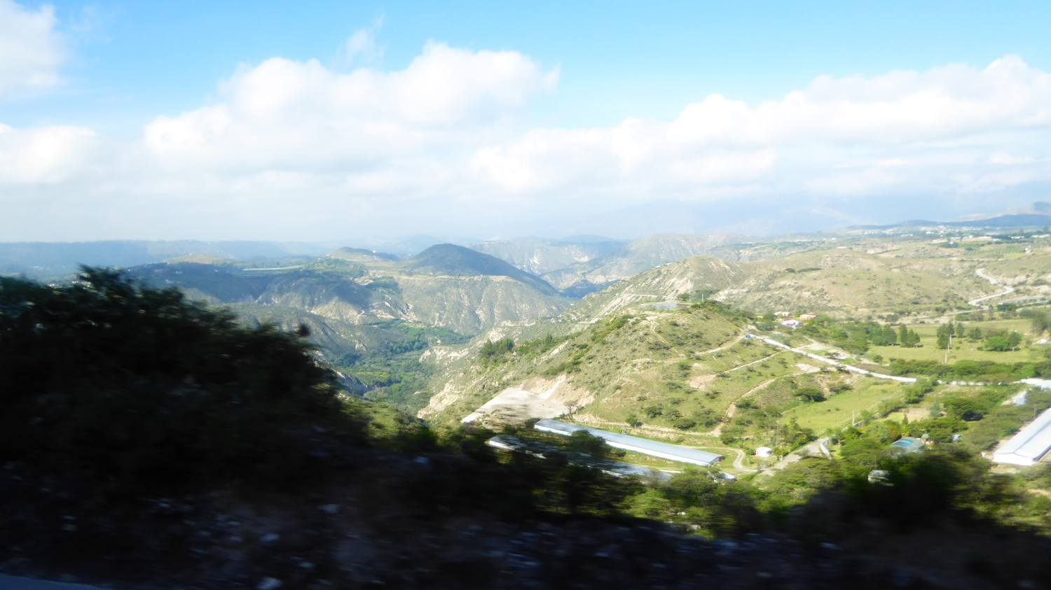 along hills and mountains and valleys towards north