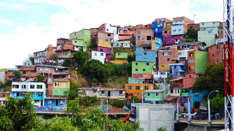 Houses in Comuna 13 in Medellin 1
