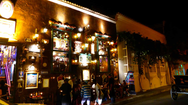 illuminated restaurants with all kinds of bric-a-brac