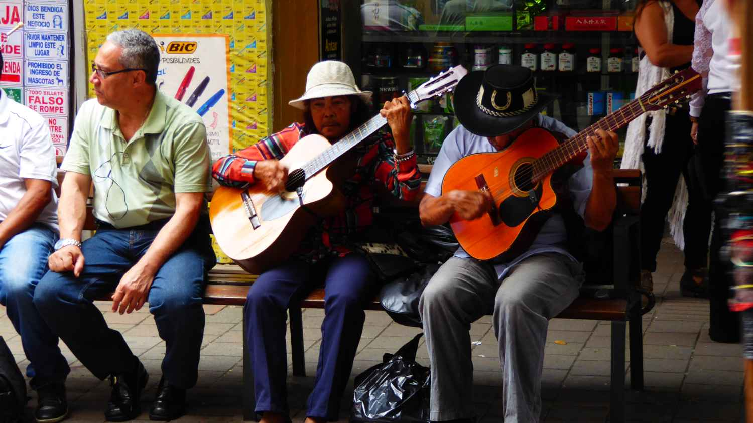 Musicians on the street in Medellin