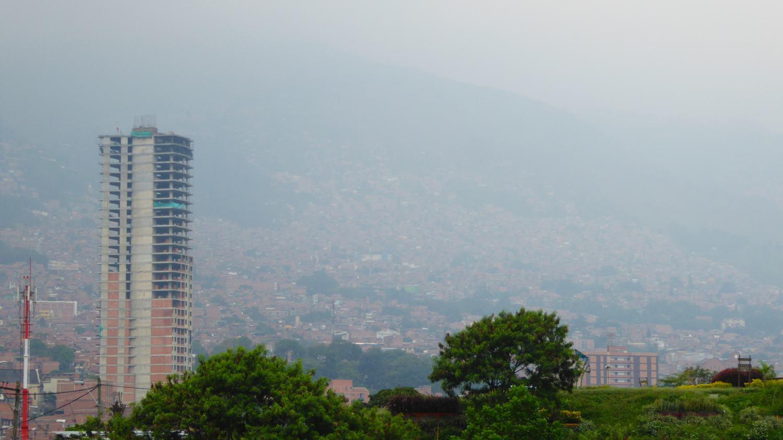 Smog over Medellin