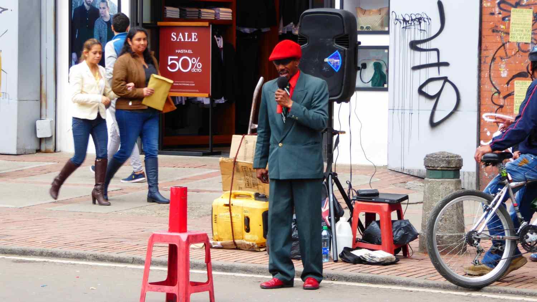 Strange people in Bogota 3