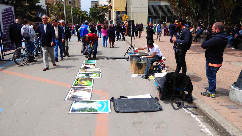 Strange people in Bogota 2
