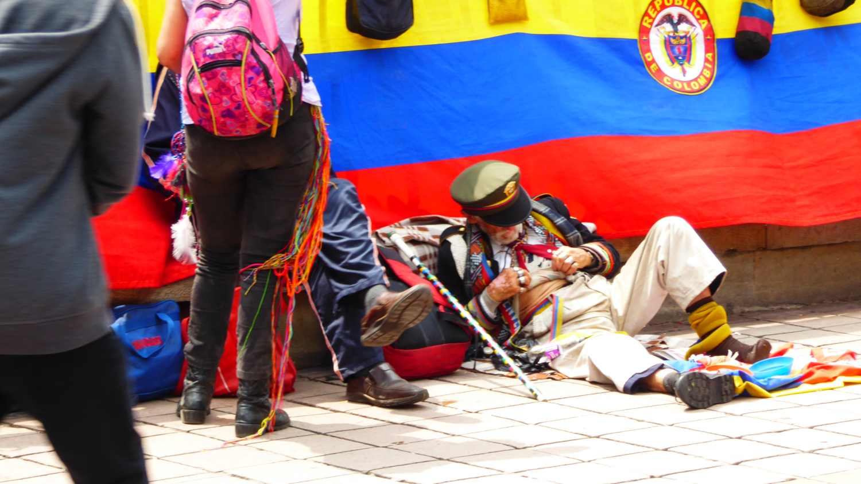 Strange people in Bogota