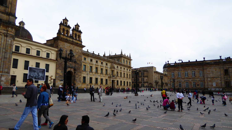 La Plaza Bolivar in Bogota 1