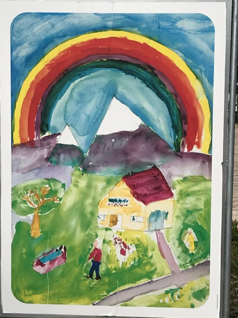 Paintings done by the children