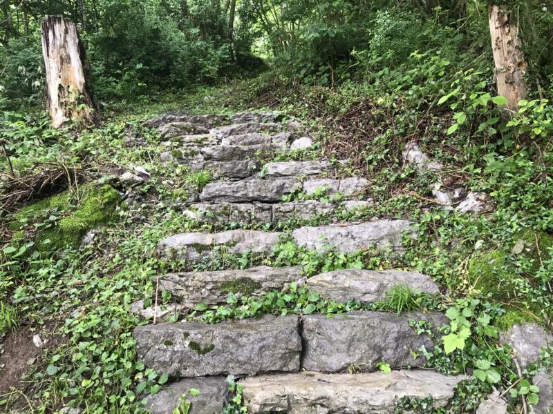 steep stairs - reminds me of Nepal