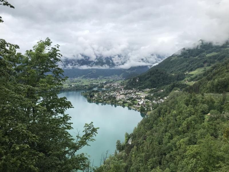 the Walensee is blinking from down there