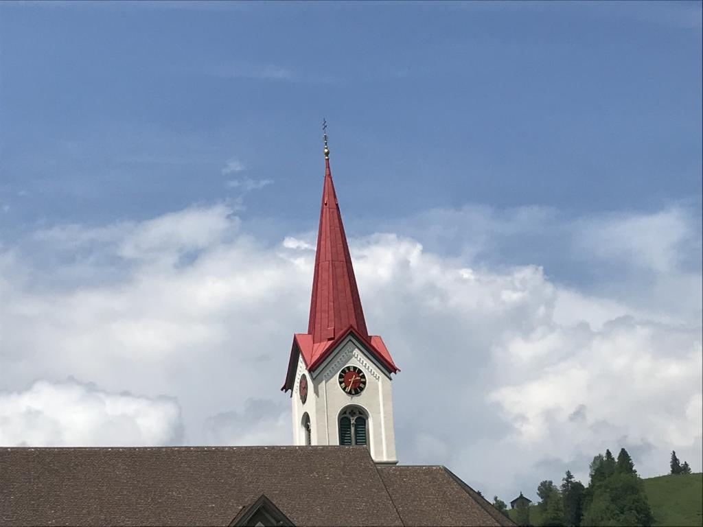 Church with red roof