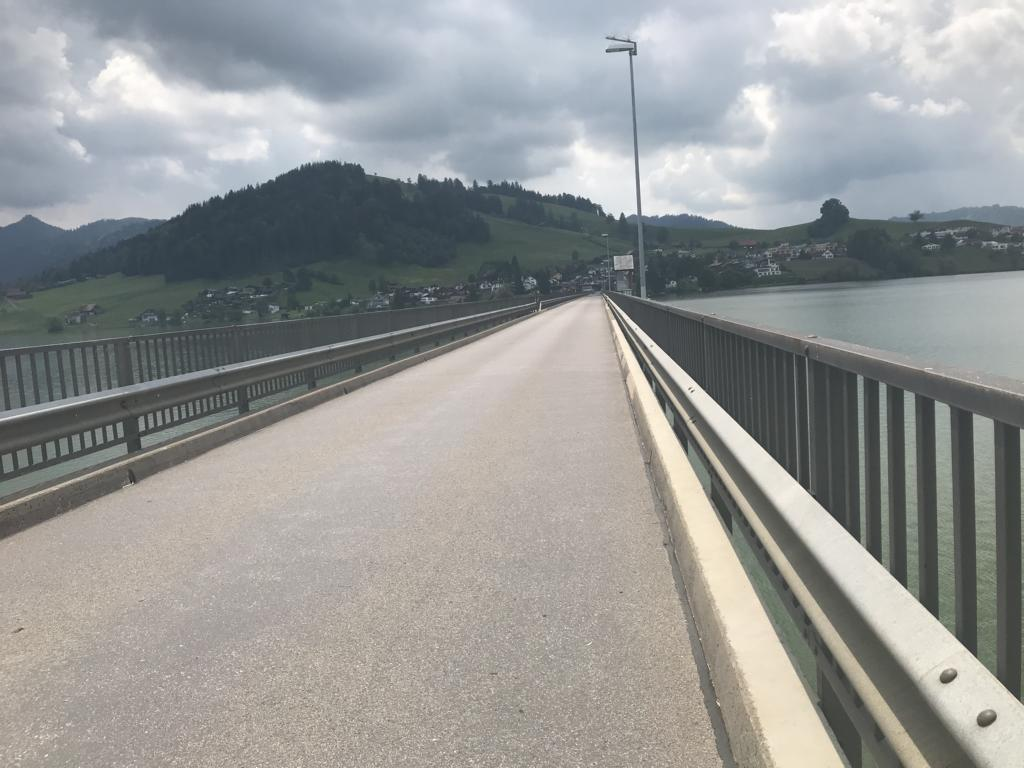 the endless bridge over the Sihlsee