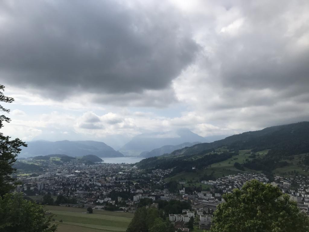 View down on Kriens