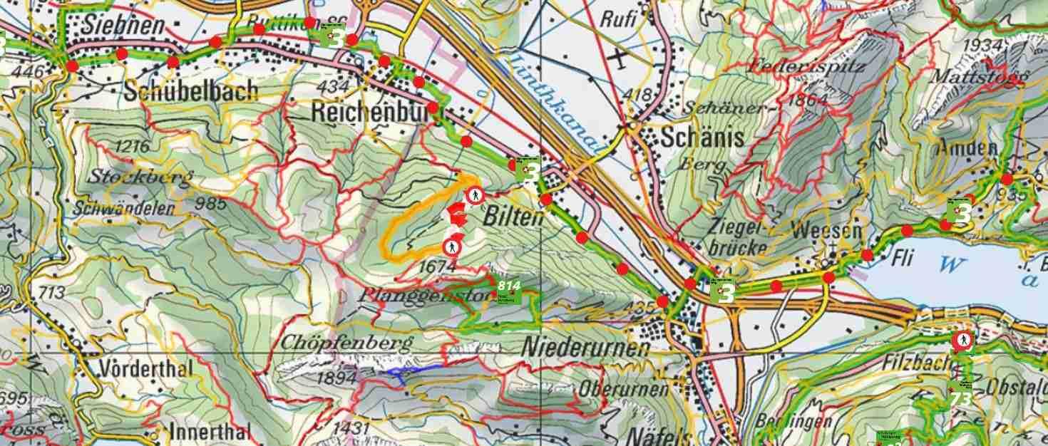 From Amden to Siebnen