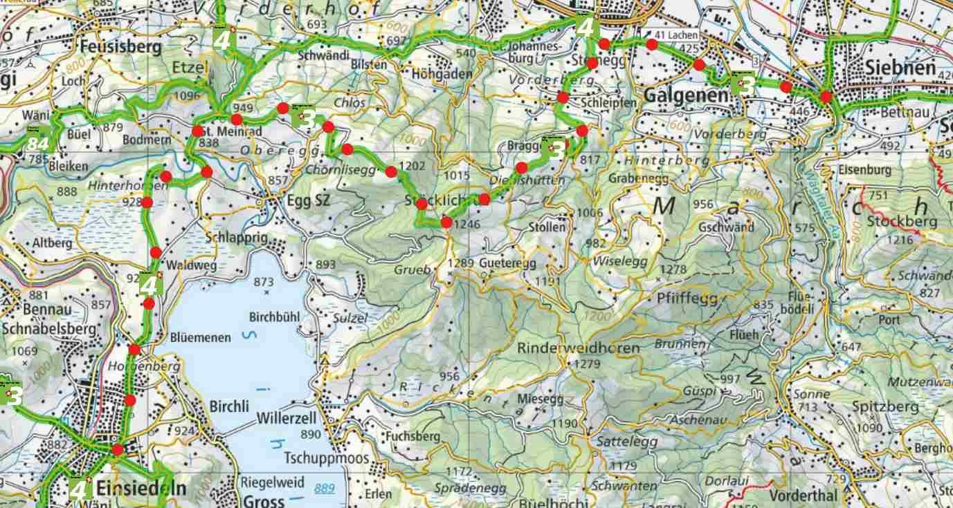 From Siebnen to Einsiedeln
