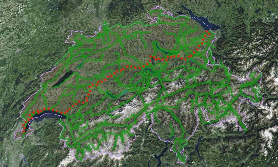 alpine panoramic trail