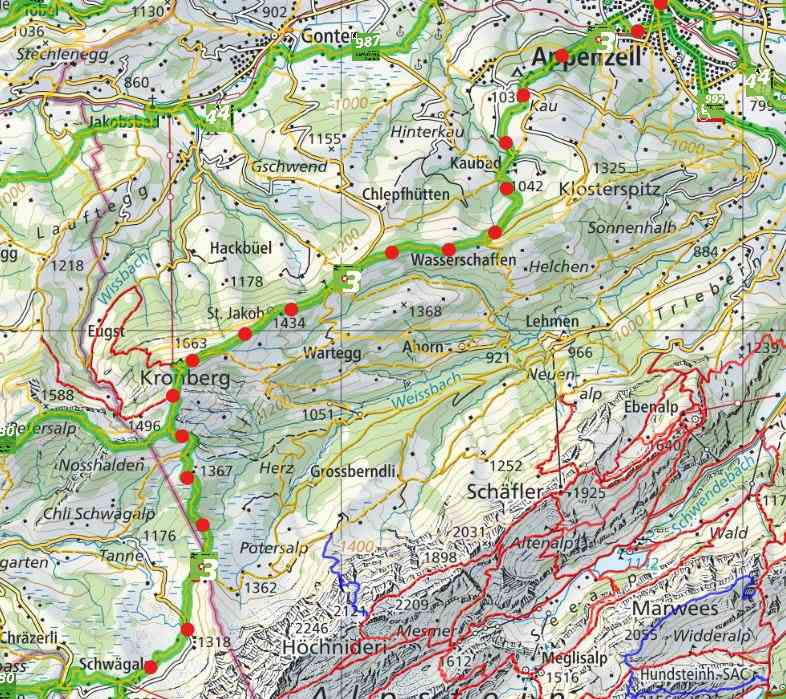 Stage 3: Appenzell - Chamhaldenhütte