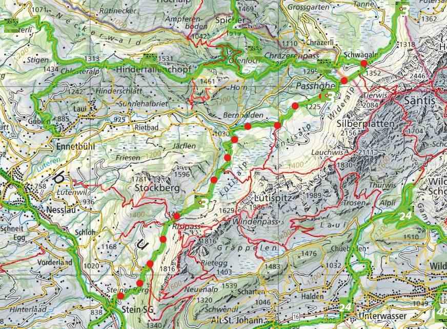 from Chamhaldenhütte to Stein