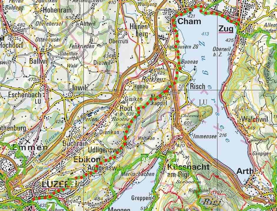 From Zug to Luzerne
