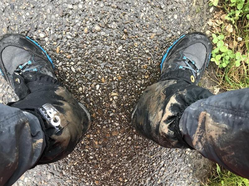Wet and dirty shoes
