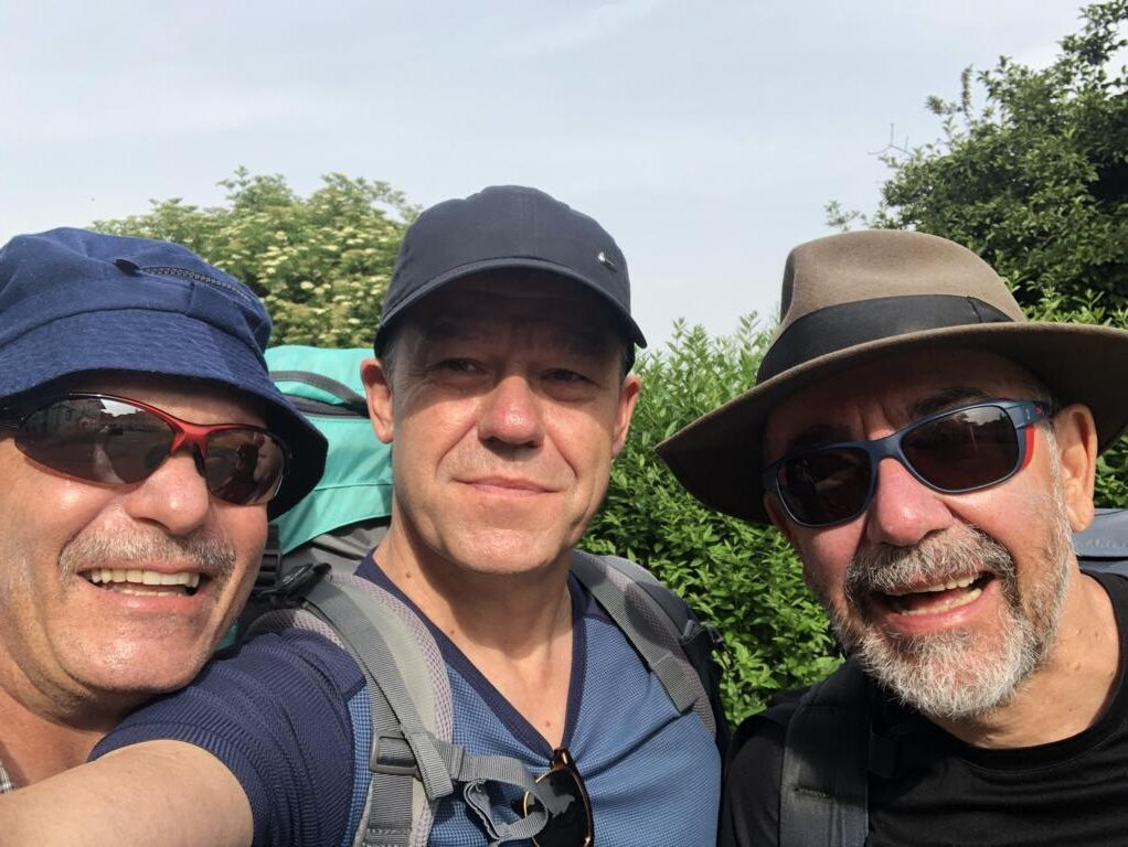 My hiking buddies, ready for action