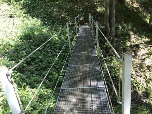 In between across a bridge ...