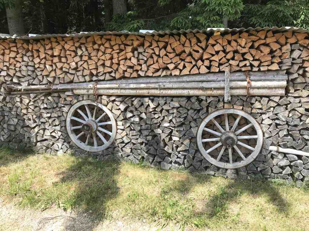 The art of stacked firewood in the Emmental