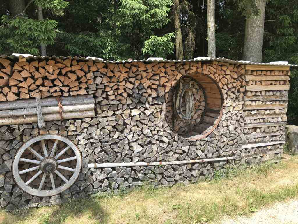 the art of stacked firewood