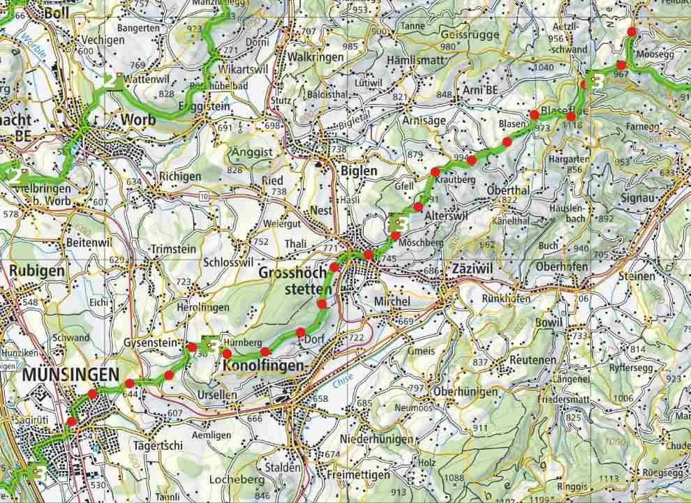 From Signau to Münsingen