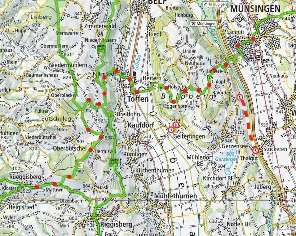 From Münsingen to Riggisberg
