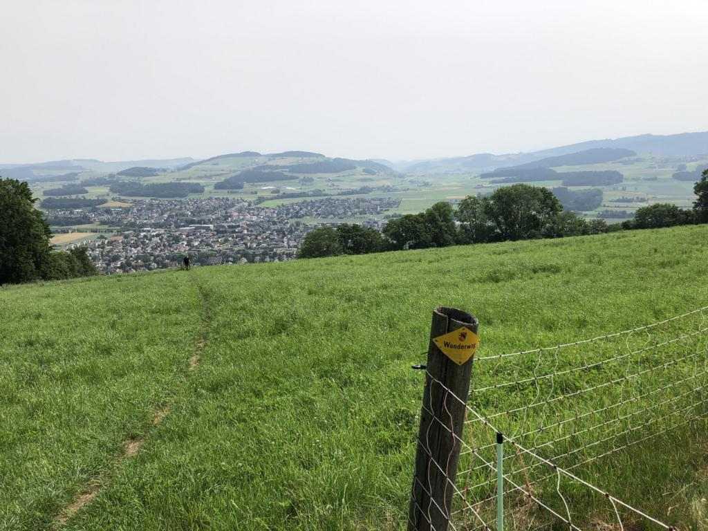 Steep ascent to Belpberg