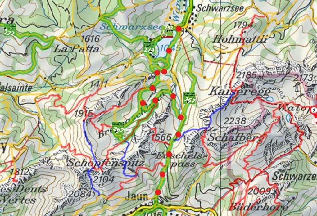From Schwarzsee to Jaun