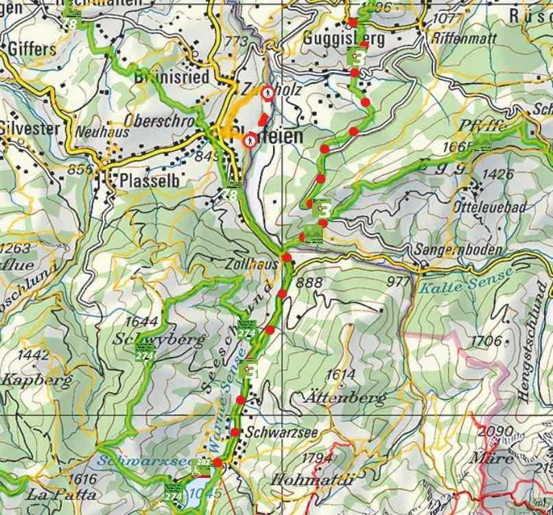 From Guggisberg to Schwarzsee