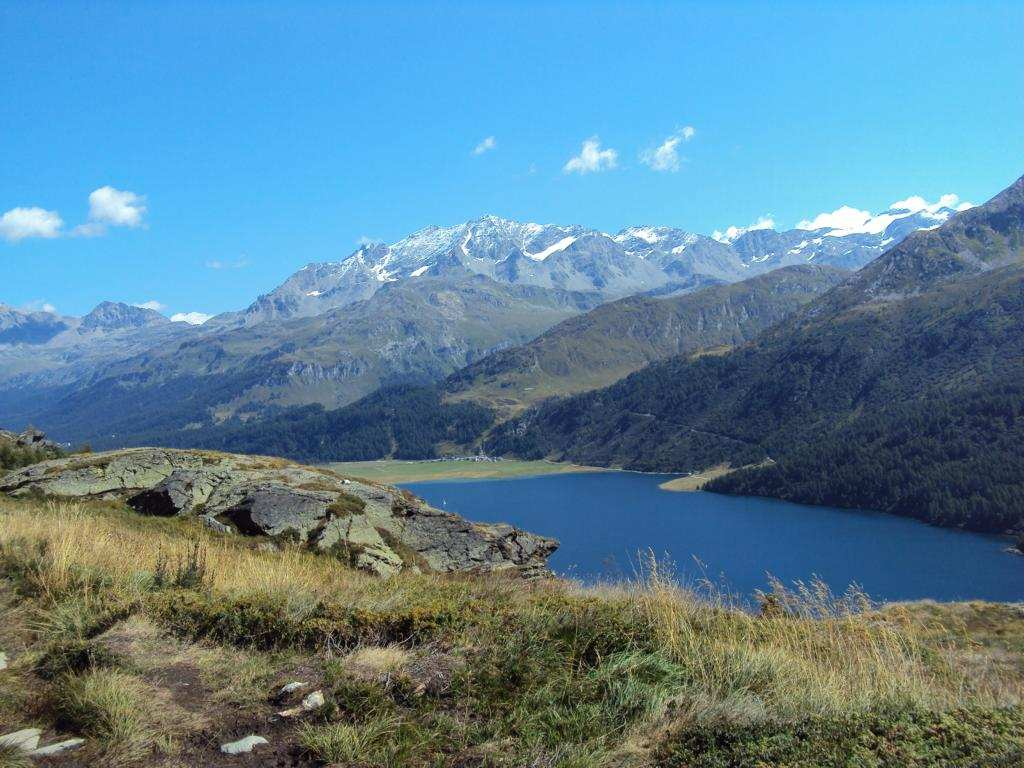 Upper Engadin with lakes