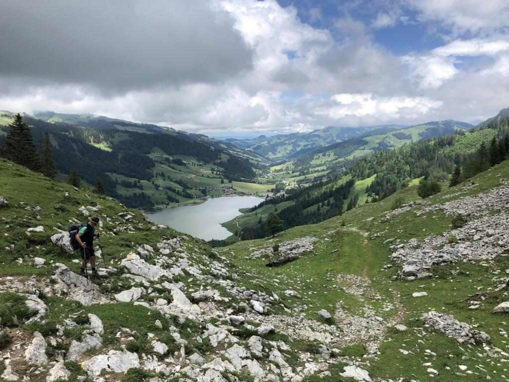 Last glimpse on the Schwarzsee down in the Valley