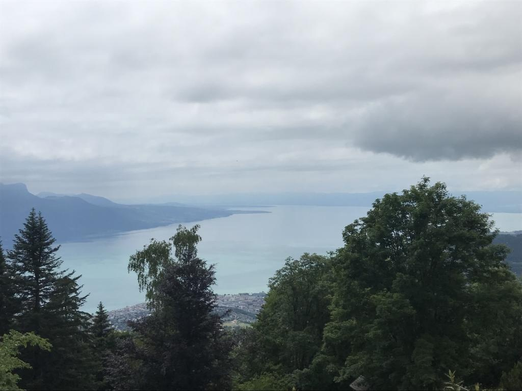 View on Lake Geneva from the Pléiades