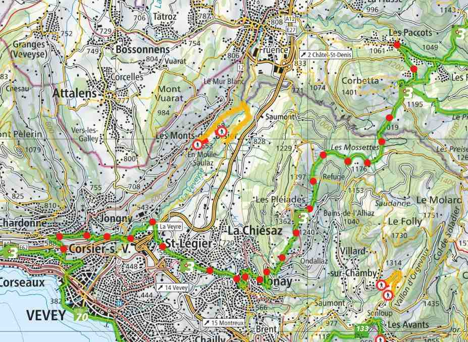 From Les Paccots to Vevey